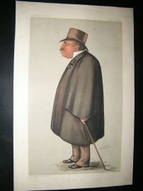 Vanity Fair Print: 1889 John Corlett, Newspaperman